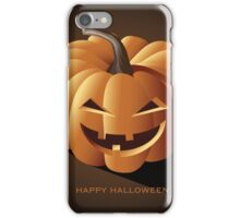 Happy halloween jack o lantern iPhone Case/Skin