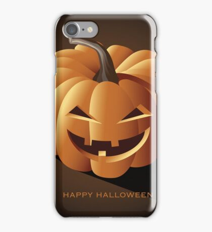 Happy halloween jack o lantern iPhone Case/Skin