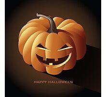 Happy halloween jack o lantern Photographic Print
