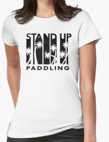 Retro Stand Up Paddling Womens Fitted T-Shirt