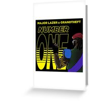 MAJOR LAZER NUMBER ONE Greeting Card
