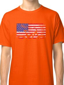 American Flag Mountain Bike USA Vintage United States Flag Classic T-Shirt
