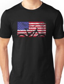 American Flag Mountain Bike USA Vintage United States Flag Unisex T-Shirt
