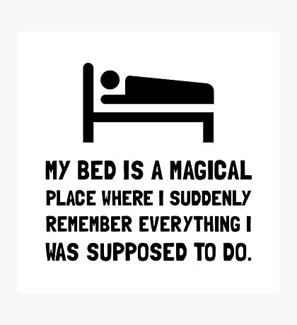 Bed Magical Place Photographic Print