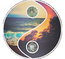 Tropical Yin Yang Photographic Print