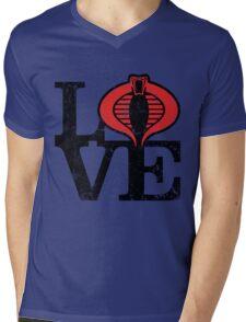 LOVE COBRA Mens V-Neck T-Shirt