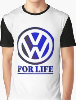 VW for life Blue Graphic T-Shirt