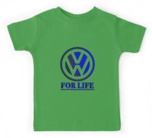 VW for life Blue Kids Tee