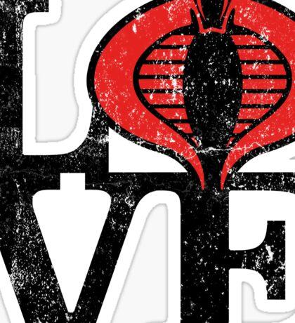 LOVE COBRA Sticker