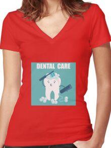 Dental Care Women's Fitted V-Neck T-Shirt