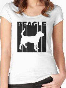 Retro Beagle Women's Fitted Scoop T-Shirt