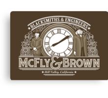 McFly & Brown Blacksmiths Canvas Print