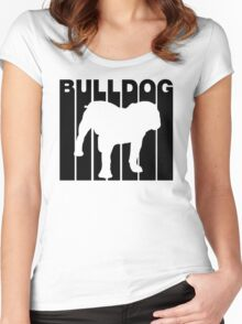Retro Bulldog Women's Fitted Scoop T-Shirt