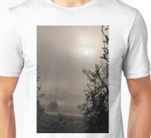A mysterious foggy morning Unisex T-Shirt