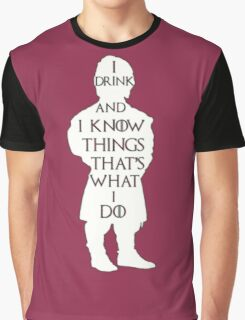 Game of Thrones - I Drink and I Know Things Graphic T-Shirt