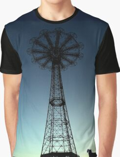 Parachute Drop - Coney Island Graphic T-Shirt