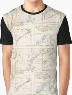Historic Map of North america Graphic T-Shirt