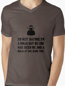 Me And Ninja Mens V-Neck T-Shirt
