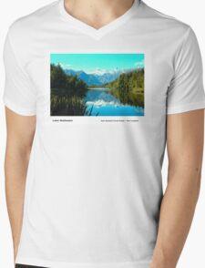 Lake Matheson Mens V-Neck T-Shirt