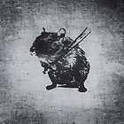 Angry street art mouse / hamster (baseball edit) by badbugs