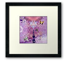 Purple Yoga  Framed Print