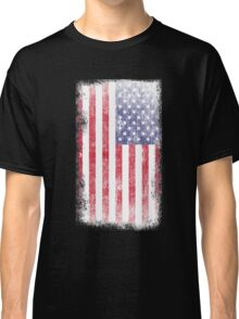 Beautiful Weathered American Flag Classic T-Shirt