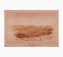 Birds Eye View of San Francisco 1868 One Piece - Short Sleeve