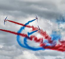 And Break !! - Patrouille De France - HDR - Duxford 2014 by Colin  Williams Photography