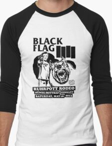 Retro Punk Restyling   - Black Flag wolf Men's Baseball ¾ T-Shirt