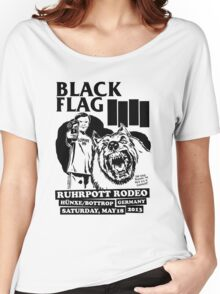 Retro Punk Restyling   - Black Flag wolf Women's Relaxed Fit T-Shirt