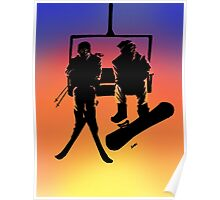 Sunset on the Slopes Poster