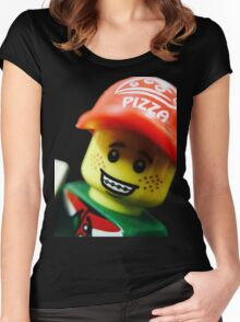 Pizza Delivery Man Women's Fitted Scoop T-Shirt