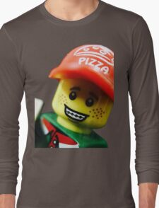 Pizza Delivery Man Long Sleeve T-Shirt