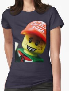 Pizza Delivery Man Womens Fitted T-Shirt
