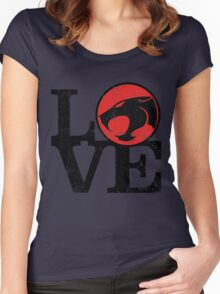 LOVE THUNDERCATS Women's Fitted Scoop T-Shirt