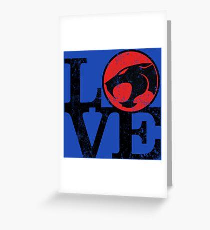 LOVE THUNDERCATS Greeting Card
