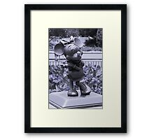 Minnie (Blue) Framed Print