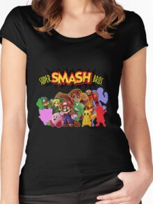 Super Smash Bros. 64 Secret Character Silhouettes  Women's Fitted Scoop T-Shirt