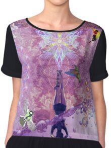 Purple Yoga  Chiffon Top