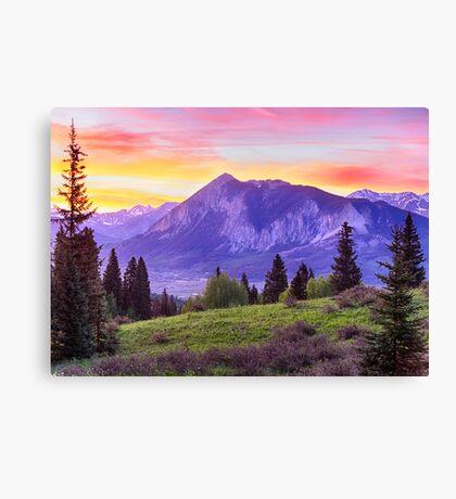 Mt. Crested Butte Canvas Print