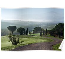 General view of Val d'orcia, Tuscany Poster