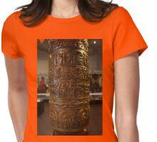 Prayer Wheel Womens Fitted T-Shirt
