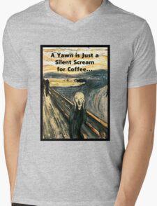 Silent Scream for Coffee Mens V-Neck T-Shirt