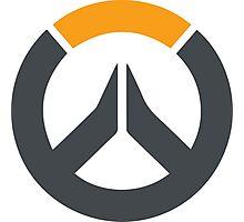Overwatch Symbol Logo - Grey & Orange Photographic Print