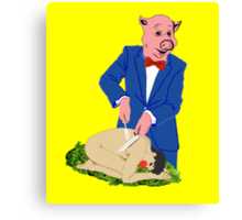 It's a Pig-Eat-Man World Canvas Print