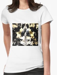 Layered Inkblot Womens Fitted T-Shirt