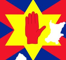 Ulster Nation Flag Map of Northern Ireland Sticker