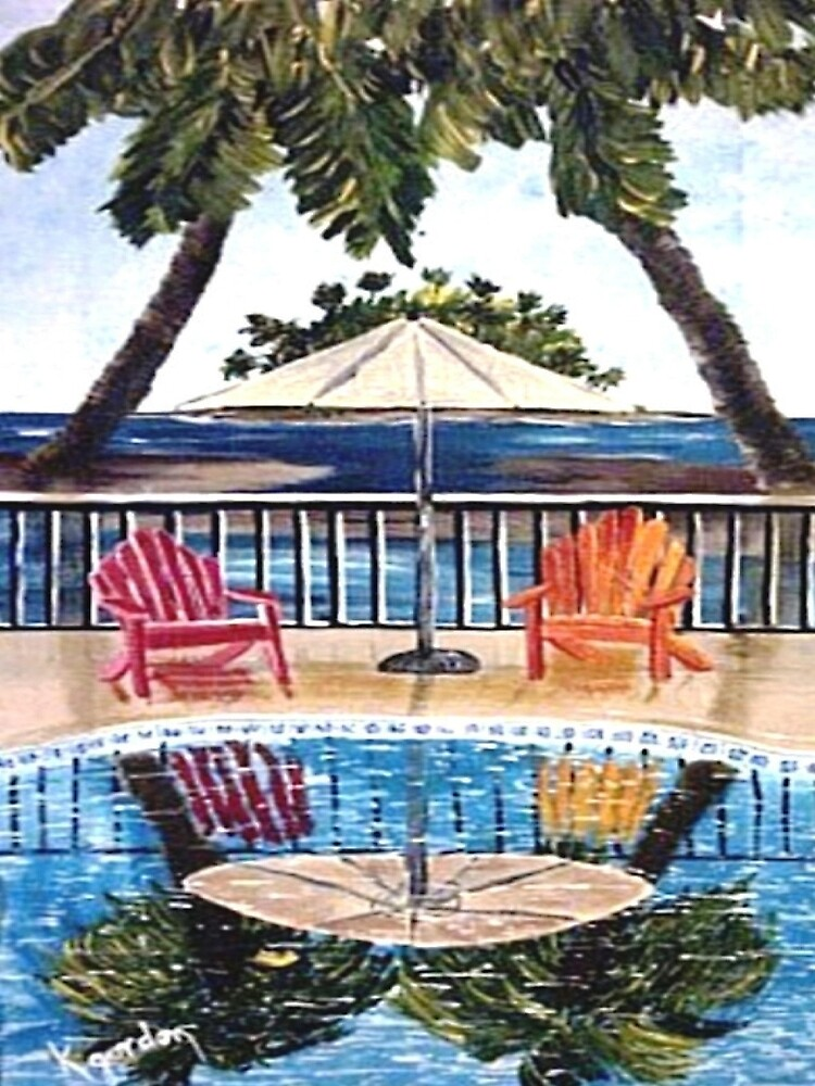 Sit With Me By The Pool II by WhiteDove Studio kj gordon