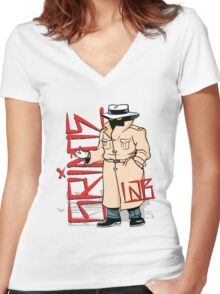 Caught Red Handed Women's Fitted V-Neck T-Shirt