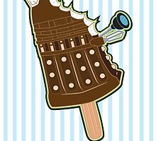 Chocolate Bar Dalek by NikoTrash